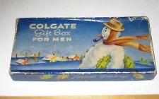 Vintage COLGATE XMAS GIFT BOX FOR MEN Christmas Snowman SHAVING Toothpaste etc