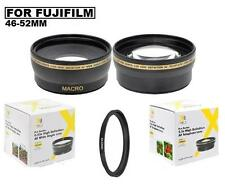 52mm Wide Angle Lens  & 2X Telephoto Lens For Fuji Finepix S5800 S5700 S700