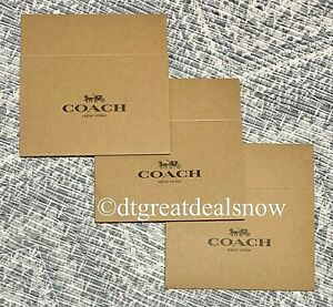 """Coach New Authentic Lot of 3 Empty Flat Brown Gift Box 4.5"""" x 6.5"""" x 2"""" 1 Piece"""