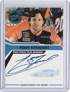TONY STEWART 2008 PRESS PASS AUTOGRAPH AUTO #16/25