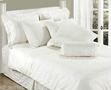 King Size lenzuolo bianco LUSSO 100% COTONE 330 thread count Stripe Satin