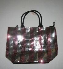 Victoria Secret Bling Sequin Pink and Silver XL Tote Bag