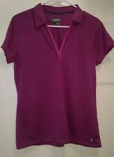 IZOD Golf NWT Woman's Pink/Purple Striped Shirt Size M