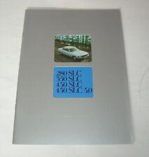 Prospekt / Broschüre Mercedes SLC C107 - 280 SLC, 350 SLC, 450 SLC - Stand 1978!