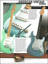 Fender American Vintage Series '57 '62 Stratocaster & Custom Telecaster ad print
