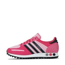 adidas Originals LA Trainer Weave Junior Youth Trainers Shoes Pink UK 6