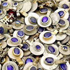 60 real Jeweled COINS Tribal BellyDance Kuchi Tribe - DEEP BLUE Color