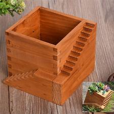 AU!! Wooden Flower Pot Garden Herb Planter Window Box Trough Succulent Plant Bed