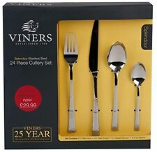 Viners Stainless Steel Cutlery Sets & Canteens 24 Pieces