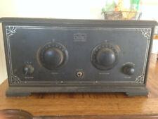 Antique 1920's Golden Leutz Plio-6 Radio