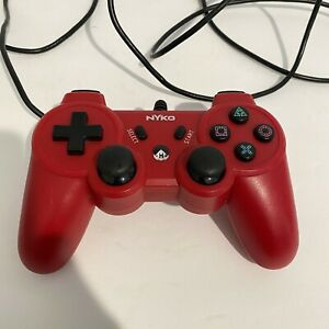 Nyko Core Red Wired Controller Gamepad for Sony PlayStation 3 (PS3) TESTED