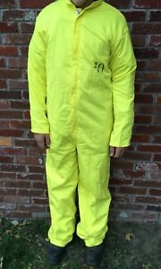 1 Nuclear Power Outfitters Size 40 MECHANIC PAINTER COVERALLS Yellow Costume