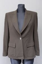 MAX MARA Damen Blazer Gr. 36 Jacke Dunkelkhaki Wolle / Schurwolle Italy )23
