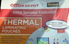 Office Depot Scotch Thermal Laminating Pouches