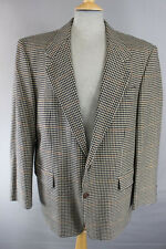CLASSIC WOOL/CASHMERE SUPERFINE CLOTH LIGHT BROWN CHECKED TWEED JACKET 42 INCH
