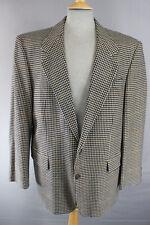 Clásico wool/cashmere Superfine Paño marrón luz comprobado Tweed chaqueta 42 Pulgadas