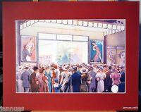 alte Reklame Druck hinter Passepartouts 80er Cinema 50x40 cm 843