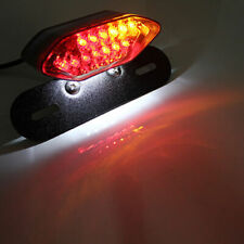 Feu Arrière Moto 20LED Freinage éclairage Phare Plaque de Frein avec Support 12V
