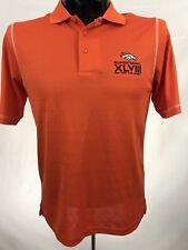 Denver Broncos mens shirt golf polo Super Bowl XLVIII NFL polyester orange s  s S 8450620e9