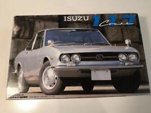 Fujimi 1/24 1968 Isuzu 117 Coupe Model Kit. Unbuilt. Curbeside.