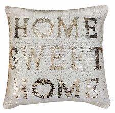 Mermaid Magic Sequin Home White & Silver 17 inch Sparkle Bling Cushion Cover