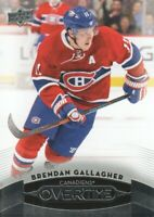 2015-16 Upper Deck Overtime Hockey #129 Brendan Gallagher Montreal Canadiens