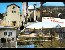 SAINT-PAUL-TROIS-CHATEAUX (26) VILLAS , FONTAINE , EGLISE & PARC en 1988