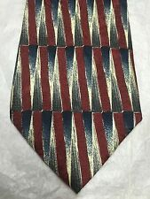 FERRELL REED MEN'S TIE MAROON WITH BEIGE AND BLUE DESIGN 60 x 4