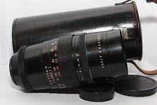 PENTACON 200mm 4 Obiettivo *MONSTER BOKEH* 15 Lame Reflex Vite M42 + Custodia *