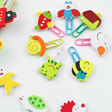 12Pcs Cute Cartoon Animals Paper Clips Bookmark Note Memo Office Stationery New
