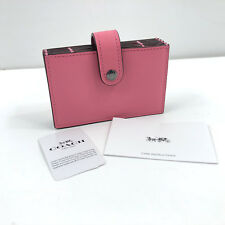 NWT Coach Wallet Colorblock Leather Accordion Card Case Bright Pink Free Ship