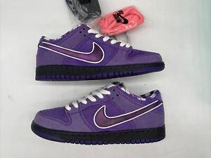 Nike SB Dunk Low Concepts Purple Lobster No Box Sz 7.5 New Black BV1310-555