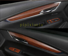 4x Peach wood grain Door armrest Decorative bar Trim For Cadillac XT5 2016 2017