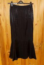 MINUET black shot satin fishtail long maxi skirt 10 36 Steampunk Victoriana