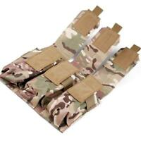 Tactical Molle Hunting Tool Pistol Handgun Mag Holder Bags Triple Magazine Pouch
