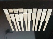 UPRIGHT  PIANO KEY TOPS  OLD  1900 C/C  12 OFF  £12 free delivery