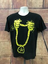 Men's OBEY Gold Chain Black T Shirt Size M