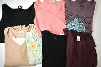 Bulk Wholesale Lot of 7 Women's Plus Size 2X Various Brands & Styles Tops