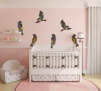 Rainbow Birds Removable Wall Sticker Nursery Decor Decal Art Mural Gift DIY