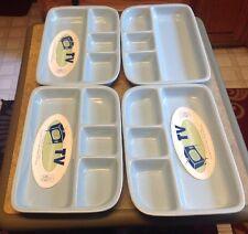 2002 BRET BORTNER BIA 4 Section Divided Plate TV Dinnerware Light Blue Porcelain