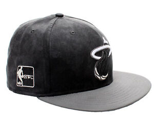 New Era 59Fifty Miami Heat BF Suede Top Men's Fitted Hat 5950 Size 7