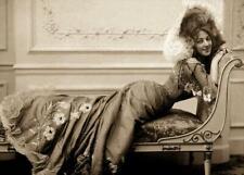 Antique Photo ... Actress Anna Held 1890's  Lounge  ... Photo Print 5x7