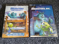 Monsters Inc and University 1 - 2 DVD 1 and 2 Both Region 1 Sealed  Brand New