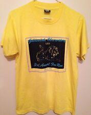 "80's Goldendale Observatory / ""Leo"" / 3rd Annual Fun Run T-Shirt - Sz: M -Yellow"