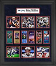 "Tom Brady New England Patriots Frmd 23"" x 27"" 6x Super Bowl Champ Ticket Collage"