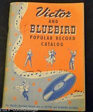 Victor & Bluebird Popular Record Music Catalog, Form #1K3778, 1st ED 1st Print