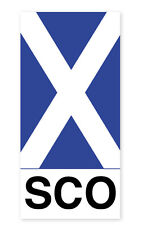 Scottish Car Bumper Window Sticker Decal Vinyl Scotland SCO Saltire Flag