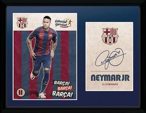 NEYMAR JR FC BARCELONA  2016-17 FRAMED PICTURE OFFICIALLY LICENSED 16'x 20'