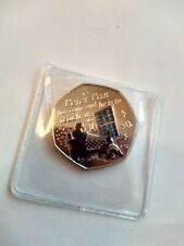Peter Pan Coin 50p With decals Wendy And nana