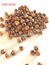 100 Olive Wood BEADS 5mm Best Quality from BETHLEHEM Holy Land Jewelry Craft
